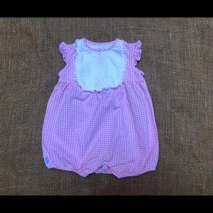 EUC RALPH LAUREN Pink Gingham Onesie 12 Months